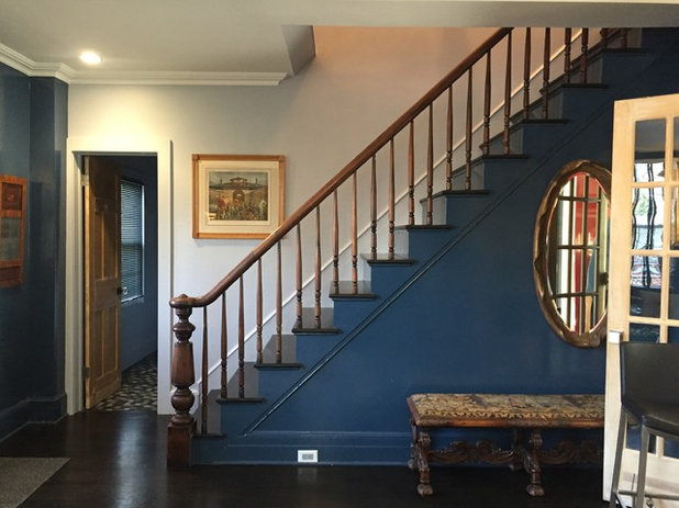 Eclectic Staircase by Amy Krane Color Consulting