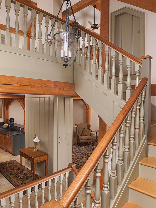 Example Of A Classic Wooden Staircase Design In Bridgeport