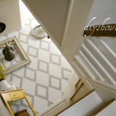 Eclectic Staircase Stairwell Landing Makeover