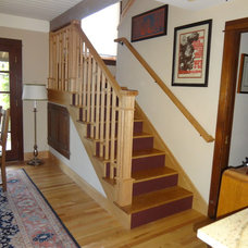 Farmhouse Staircase by RGSCONTRACTING