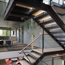 Contemporary Staircase by Thomas Jacobson Construction, Inc