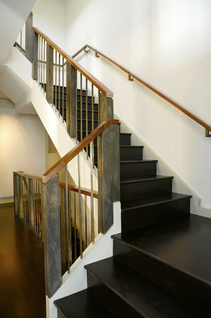 Industrial Staircase by Upscale Construction