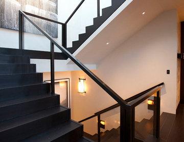 Steel and Glass Guardrail