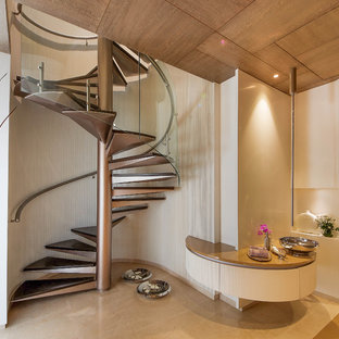 Steel and Wood Spiral staircase
