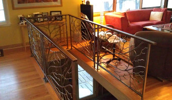 Steel Railing with Tree Branches
