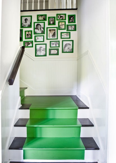 Contemporary Staircase by Erica George Dines Photography