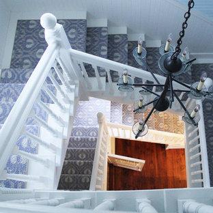 Идея дизайна: лестница в морском стиле