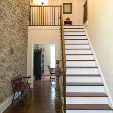 Farmhouse Staircase by Knight Architects LLC