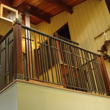 Stone Wood & Steel - Interior Railing