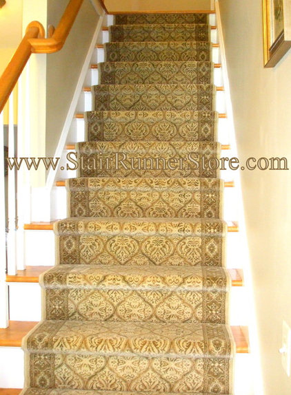 Traditional Staircase by The Stair Runner Store - Creative Carpet & Rug LLC