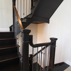 Traditional Staircase by Amber Stairs & Railings Inc.