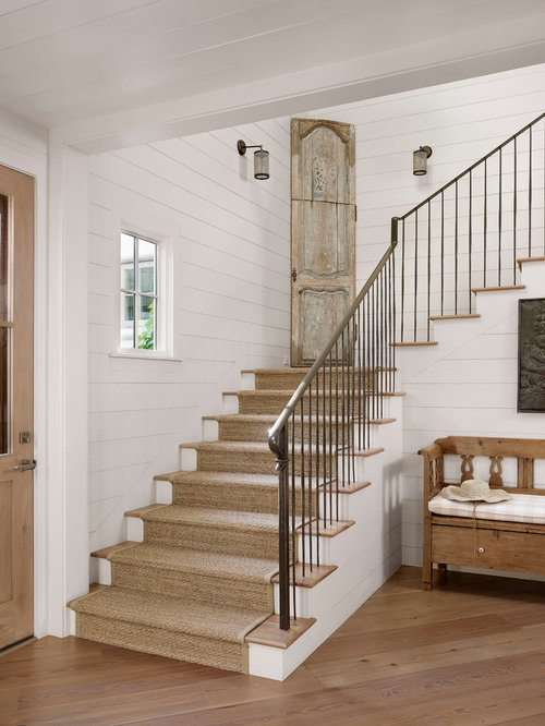 farmhouse staircase design ideas remodels photos