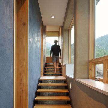 Strawbale Retreat Home Staircase