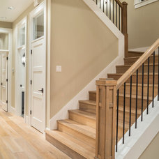 Transitional Staircase by Alan Mascord Design Associates Inc