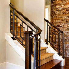 Contemporary Staircase by Garrison Hullinger Interior Design Inc.