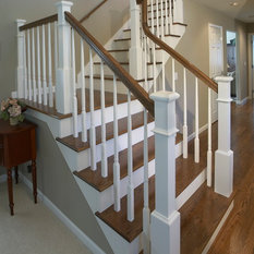 Hardwood Floors Stained In An Espresso Color To Match The Existing First  Floors Created Warmth And Tied The House Together. The Banisters Also  Comprised The ...