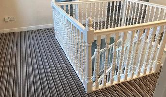 Striped Stairs Landing
