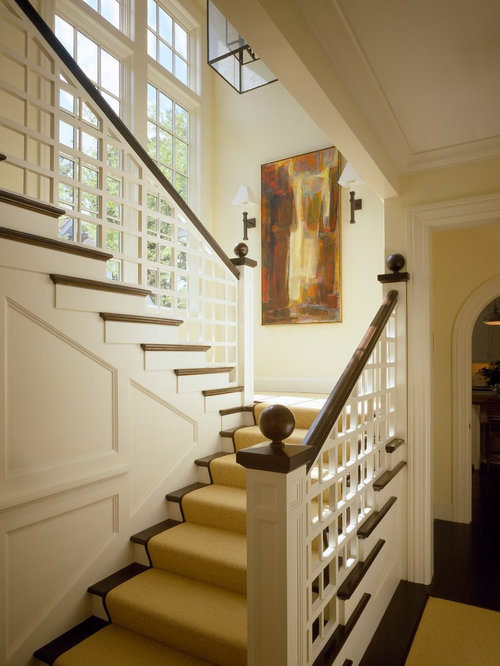 Painted hand rail home design ideas pictures remodel and decor for Home designer stairs with landing