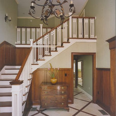 Traditional Staircase by Leslie Saul & Associates
