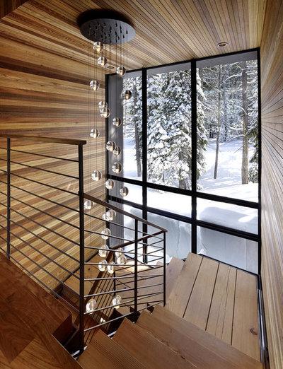 Rústico Escalera by John Maniscalco Architecture