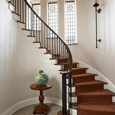 Traditional Staircase by David Heide Design Studio