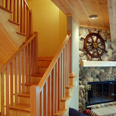 eclectic staircase by Kaufman Construction Design and Build