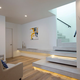 Inspiration For A Contemporary L Shaped Open Staircase Remodel In San Diego