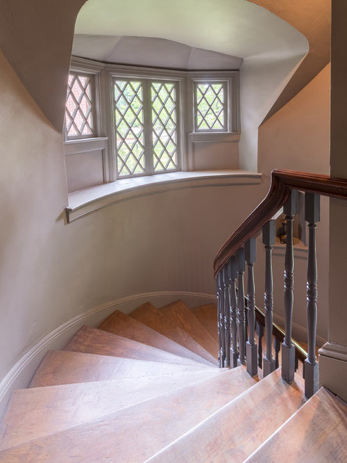 Elegant Wooden Spiral Wood Railing Staircase Photo In Other