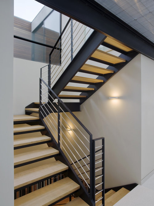 Horizontal stair rail home design ideas pictures remodel