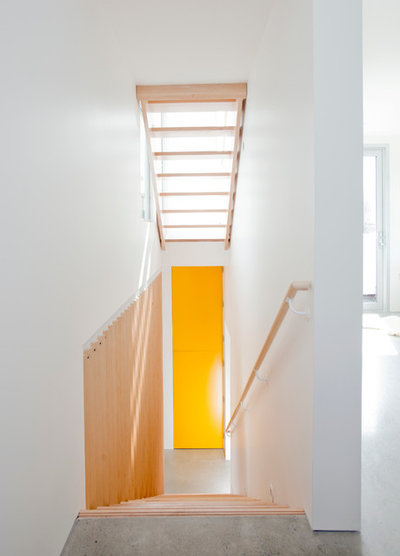 Contemporary Staircase by Novell Design Build