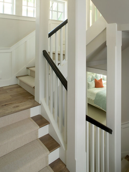 Example Of A Large Transitional Carpeted U Shaped Staircase Design In Grand  Rapids