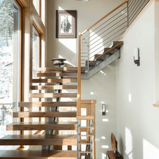 Rustic Staircase by fuentesdesign, llc