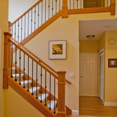 Traditional Staircase by L.EvansDesignGroup,inc