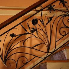 Mediterranean Staircase by Harris Metalsmith Studio