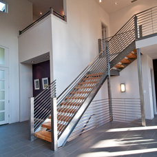 Modern Staircase by dC Fine Homes & Interiors