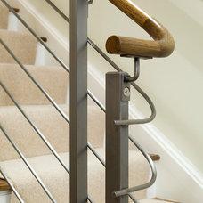 Contemporary Staircase by Gutierrez Studios
