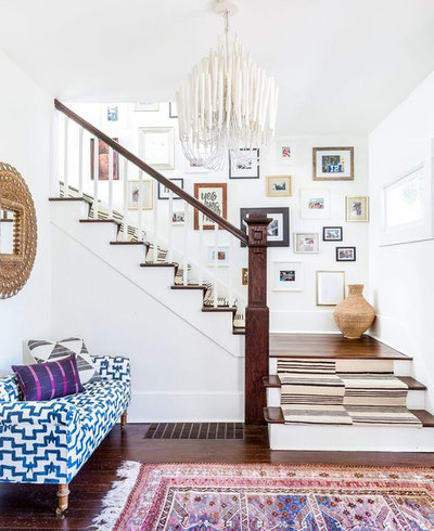 Eclectic Staircase by Heidi Caillier Design