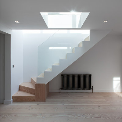 Contemporary Staircase by Maxwell & Company Architects
