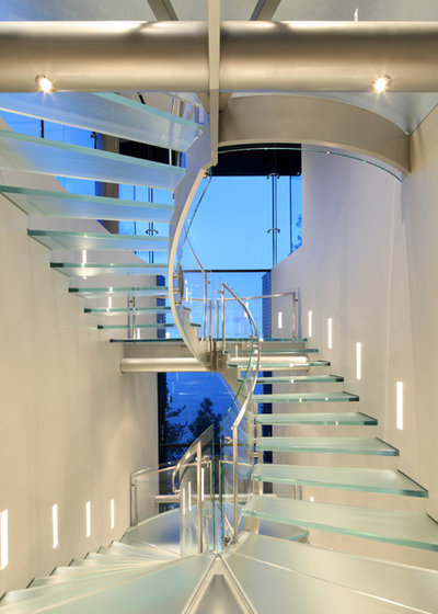 Contemporary Staircase by Curtis Laney & Laney, The Design Company, Inc.