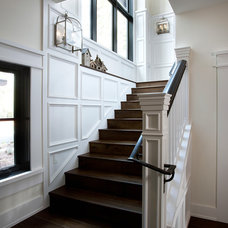Rustic Staircase by Vallone Design