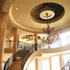 Traditional Staircase by Estess Contractors