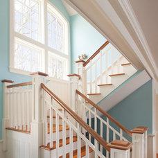 Traditional Staircase by Sam Sherman Associates, LLC