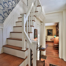 Farmhouse Staircase by Margaret Weathers Broker
