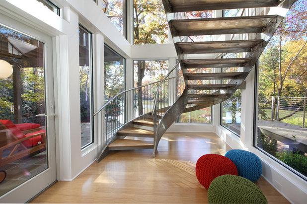 Contemporain Escalier by Randall Kipp Architecture