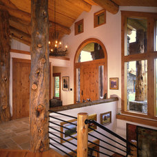 Contemporary Staircase by Teton Heritage Builders