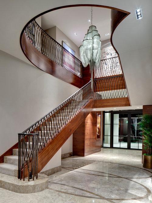 Elegant Straight Staircase Photo In Dallas