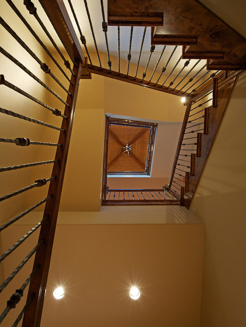 Square spiral staircase home design ideas pictures for Square spiral staircase plans hall