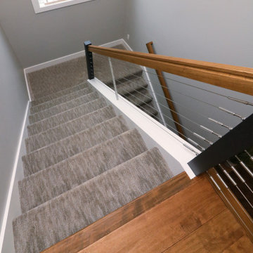 Textured carpet for stairs
