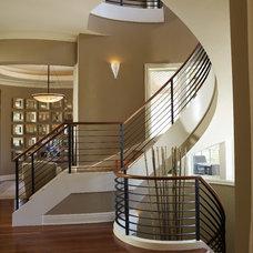 Contemporary Staircase by Alvarez Homes