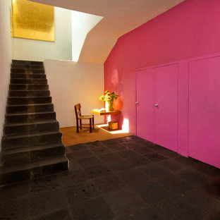Inspiration for a modern staircase remodel in Mexico City